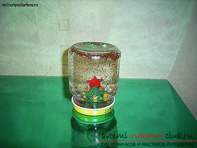 photo process of making the original jar with snow. Photo №4