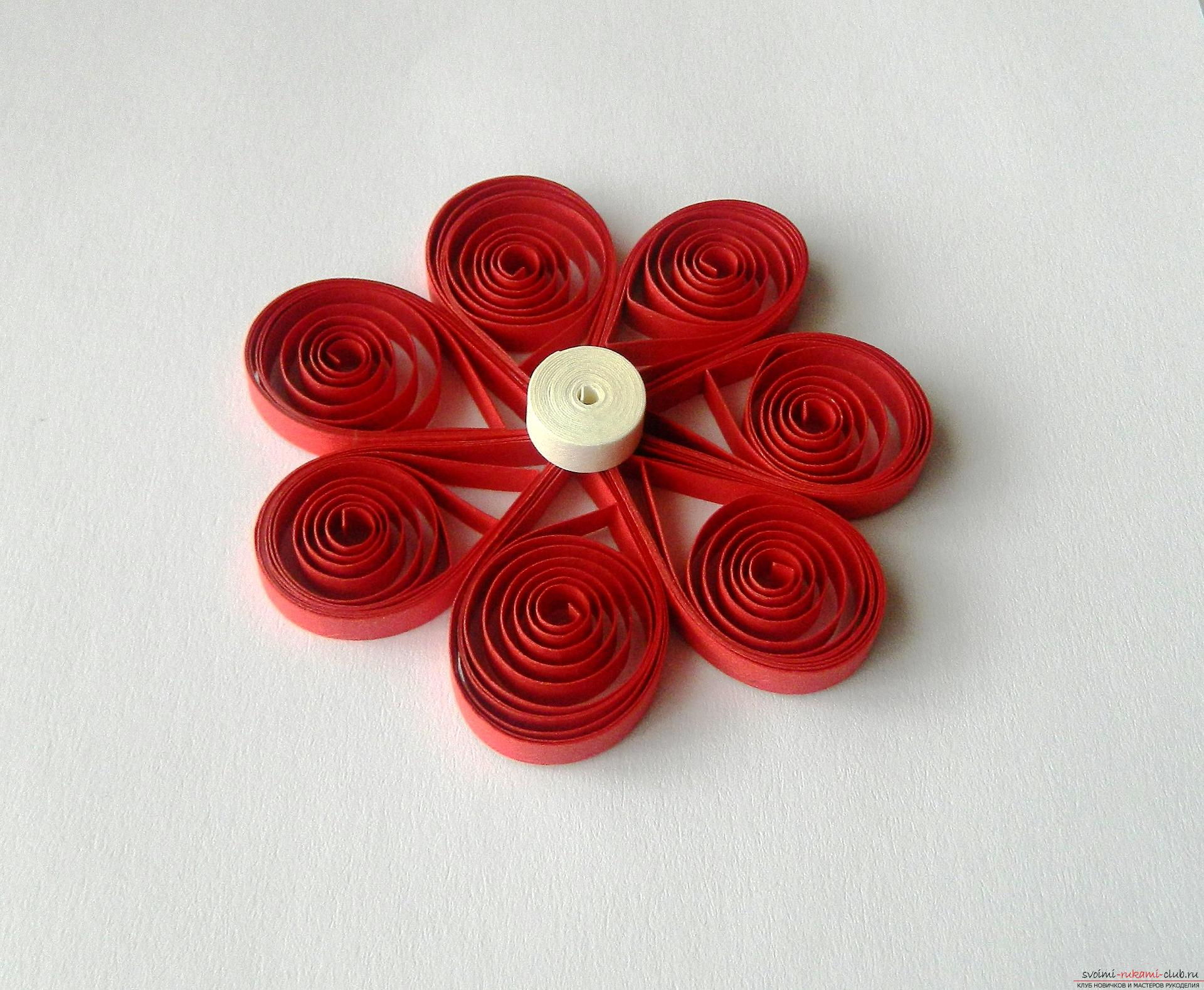 From this detailed master class with a photo you will learn how to create a quilling postcard .. Photo # 13