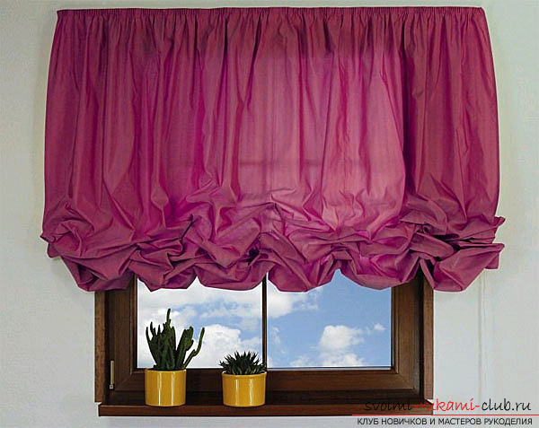 French curtains, made by own hands. Photo of rooms decorated with curtains .. Picture №3