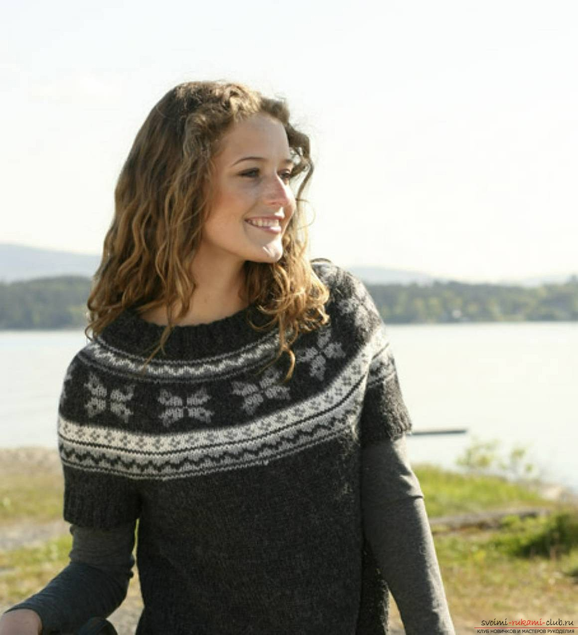 knitted knitting sweater with a Norwegian pattern. Picture №3