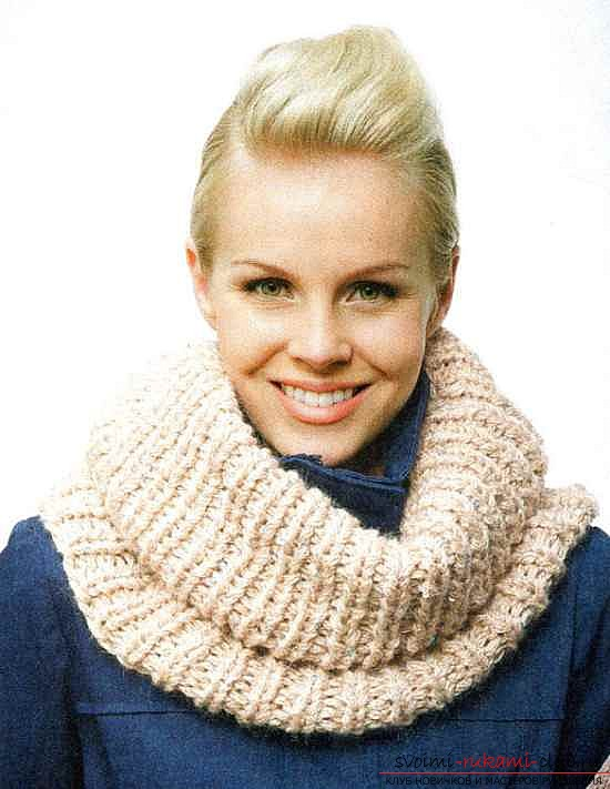 Knitted scarf-tube. Picture №3