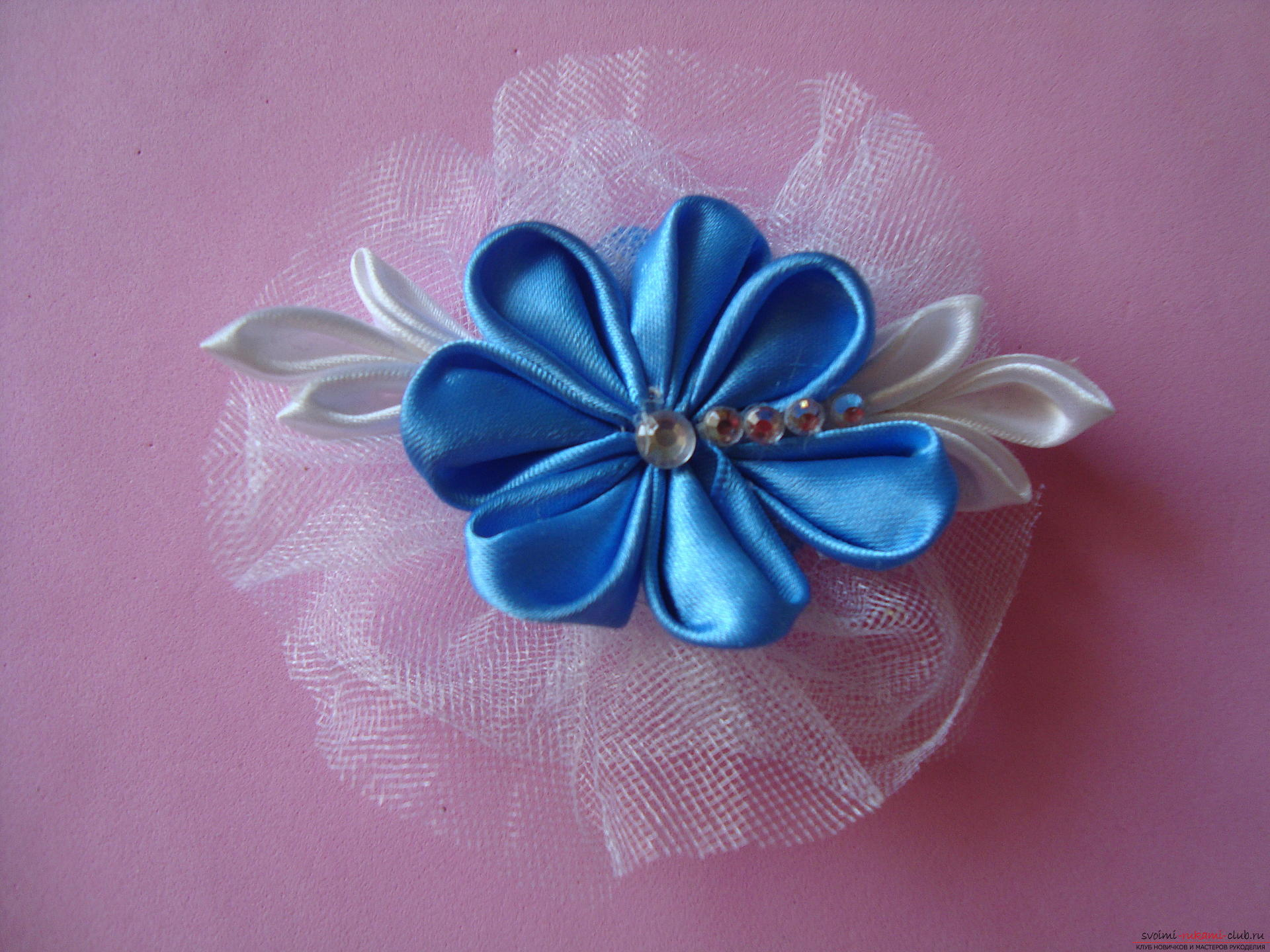 Master class for faking a delicate barrette with their own hands ,. Photo # 23