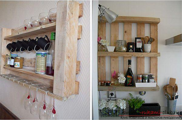 Unusual interior items with their own hands, pallets in the interior, how to make a shelf from the pallet with your own hands. Photo # 1
