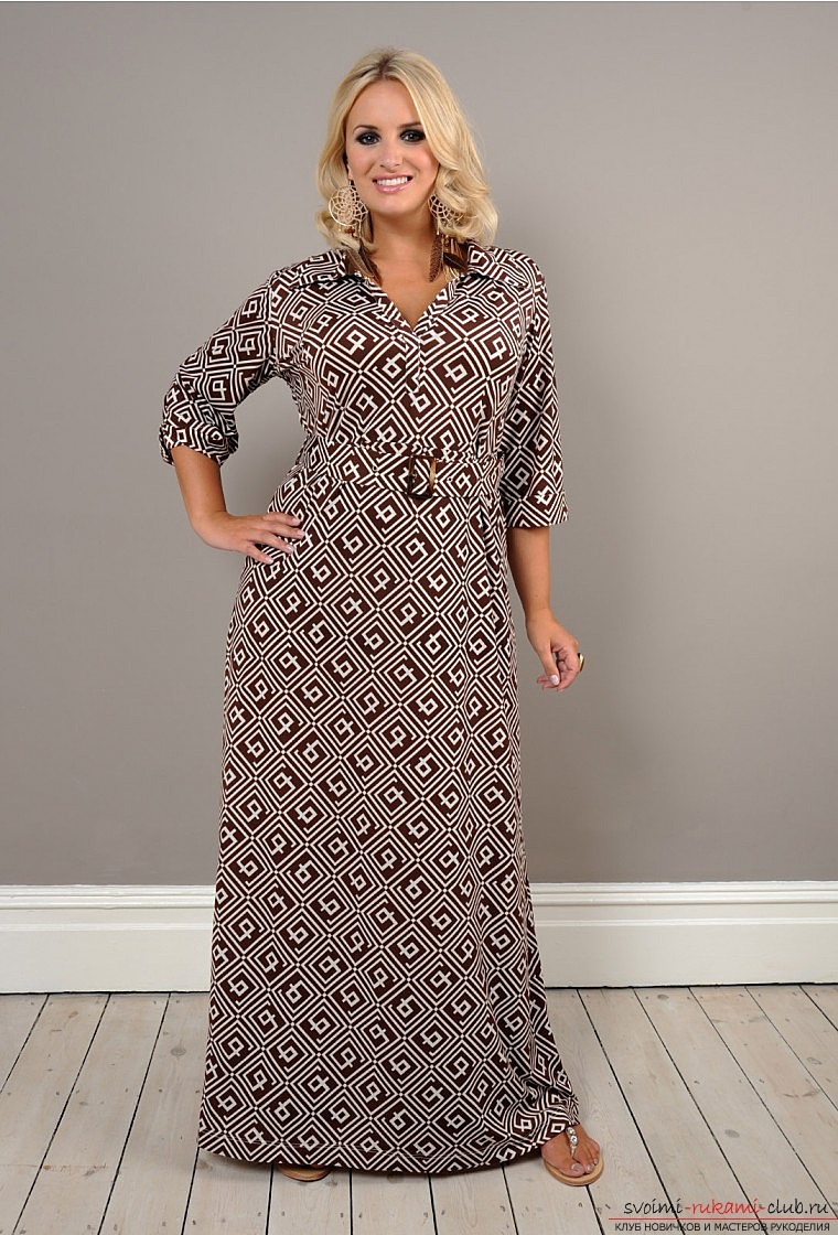Sewing instructions: Dress for complete ones, lessons and master classes, photo .. Photo # 2