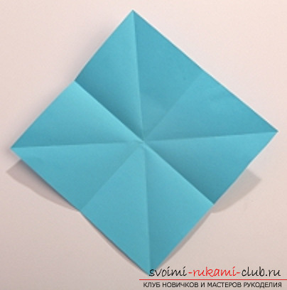 Blue dragon origami. Photo №1