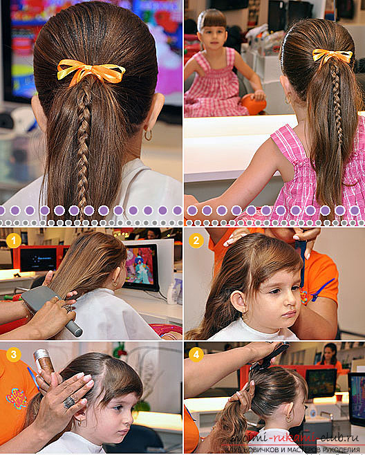 How to make children's hairstyles for girls with their own hands: to make a hairstyle for a girl just !. Picture №3