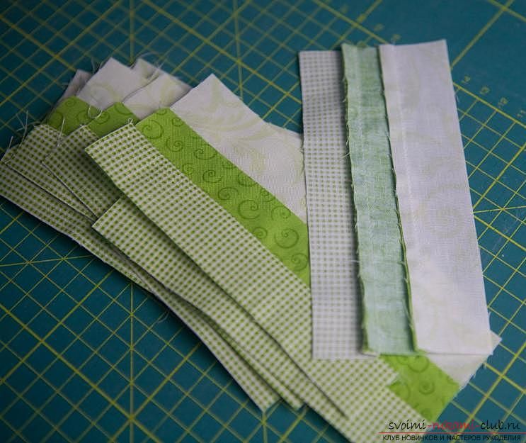 Making a Japanese bag of Omega in the style of Japanese patchwork. Photo №6