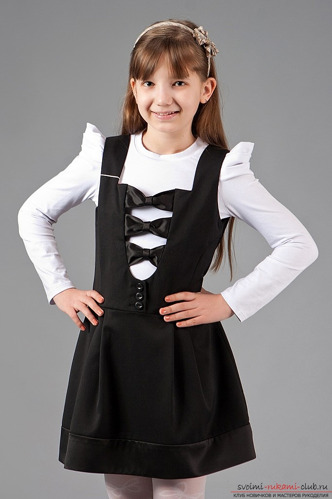 school sarafan patterns for girls with their own hands, for free. Photo №1