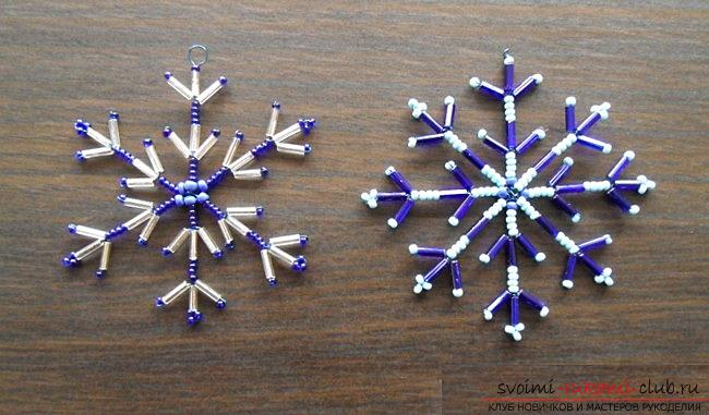 How to make snowflakes with your own hands from paper, in the technique of killing, from dough, from beads and beads, from tapes in Kansas technique or crochet, step-by-step photos and ideas for inspiration. Photo №4