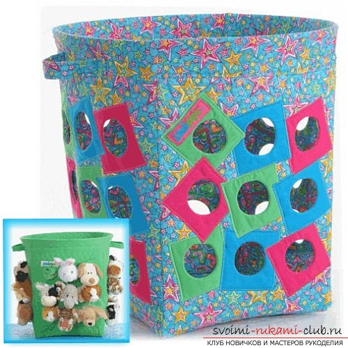 Basket for toys, made by own hands. Photo baskets and ideas for their manufacture .. Photo # 2