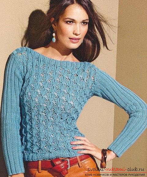 Comfortable model knitted sweaters for autumn. Photo №4