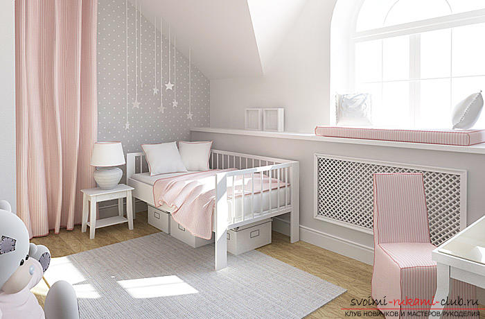 Fresh ideas of interior design, how to make a dark room more light and bright with your hands .. Photo # 1