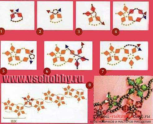 Schemes for bracelets from beads .. Picture number 4
