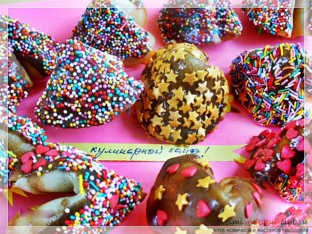 How to cook delicious and beautiful New Year cookies, a recipe of Chinese cookies with predictions and honey crackers with kind wishes. Photo №1