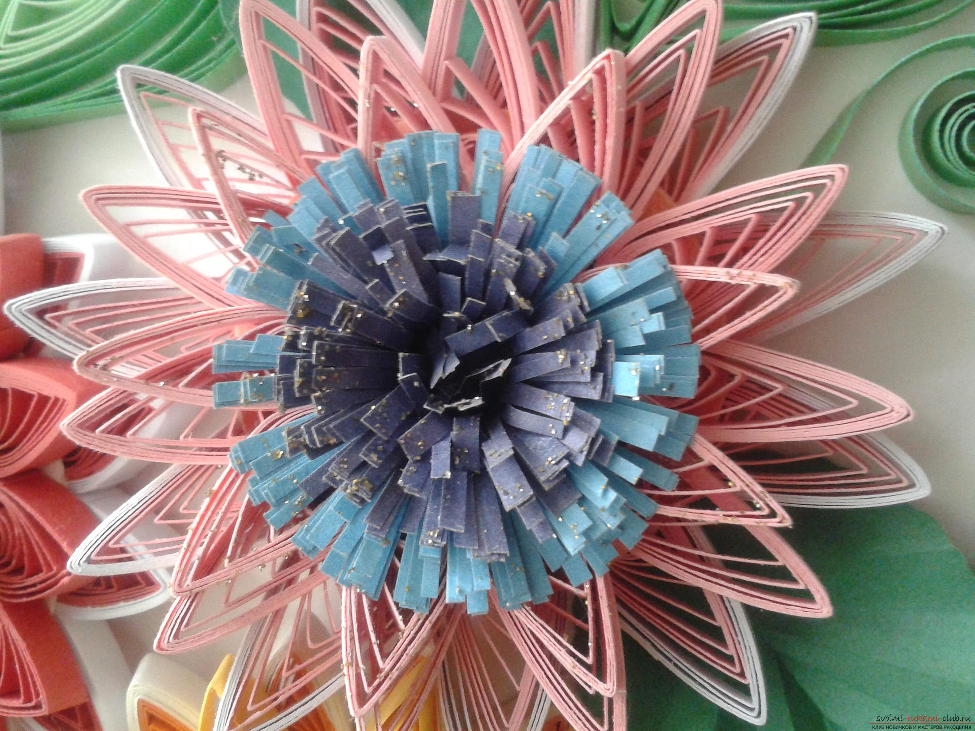 This detailed master class will introduce quilling techniques, teach you how to make quilling flowers and quillings. Photo # 9