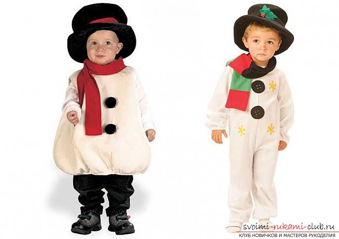 How to make a snowman suit with your own hands instructions on how new year costumes with their own hands how to make a snowman costume yourself solutioingenieria Gallery