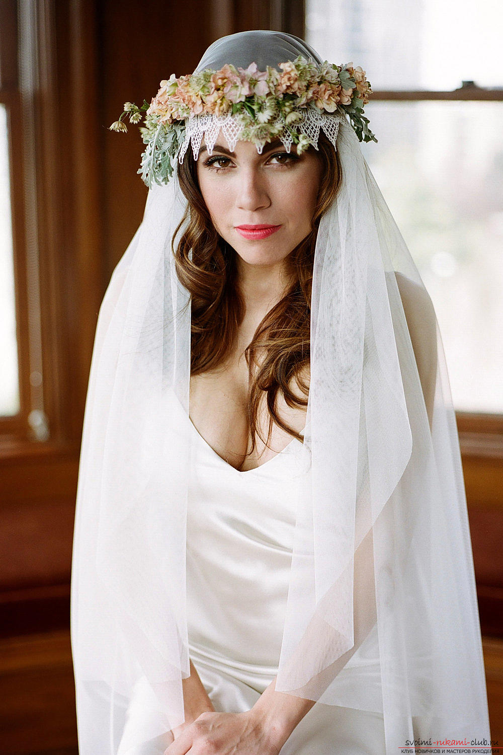Hairstyles for the bride for the wedding with the veil. Photo №1