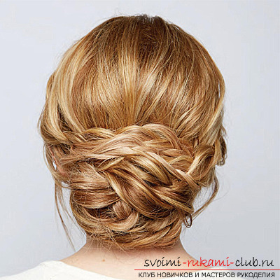Festive hairstyles can be made with your own hands at home. Simple and easy to perform the installation using photos and job descriptions step by step .. Picture №6