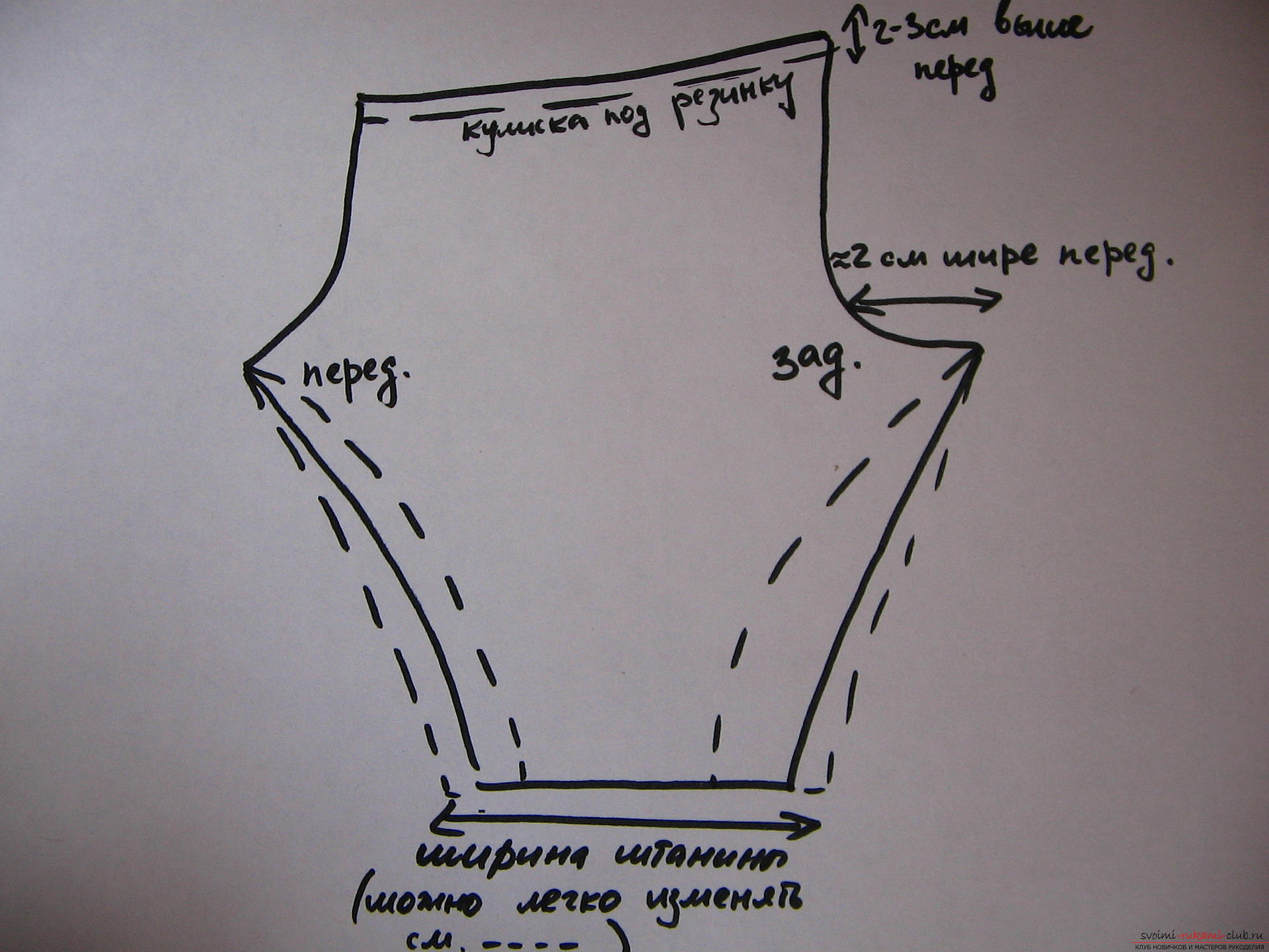 Simple trouser pattern for a girl. Picture №3