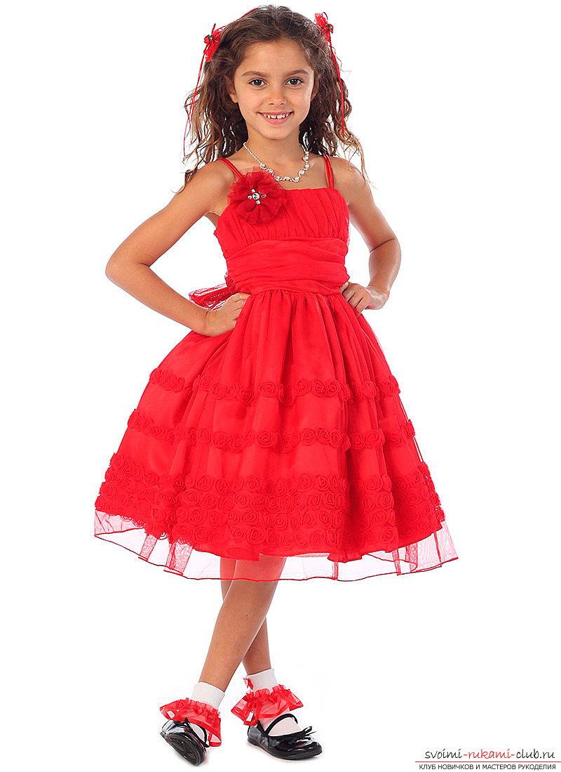 How to make a dress for a daughter or a girl with their own hands: photos and tips .. Photo # 1