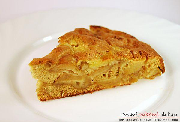 Apple-orange charlotte - a dessert with their own hands and a recipe for dessert. Photo # 2