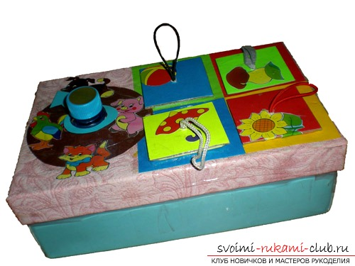 An interesting toy from the box for toddlers. Photo №1