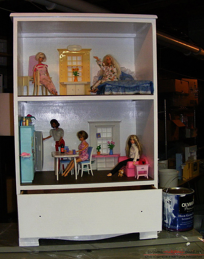 Doll house with their own hands easily and quickly. Photo Number 11
