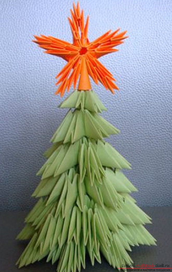 Modular origami tree. Photo Number 21
