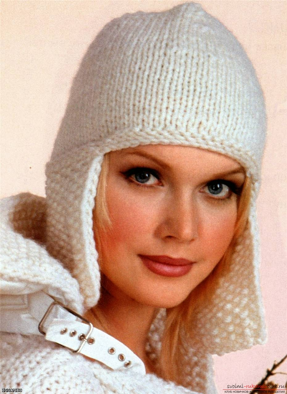 knitted needles original spring hat for women. Photo №1
