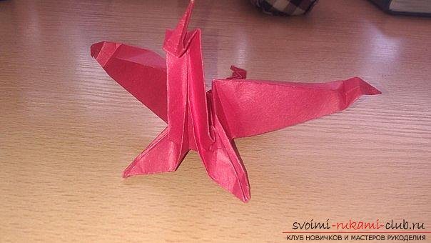 This detailed master class contains an origami-dragon scheme made of paper, which you can make by yourself. Photo # 45