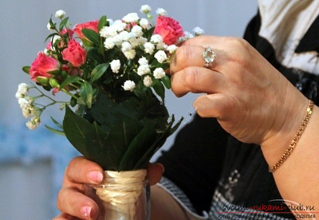 We make a wedding bouquet with our own hands. Photo №6