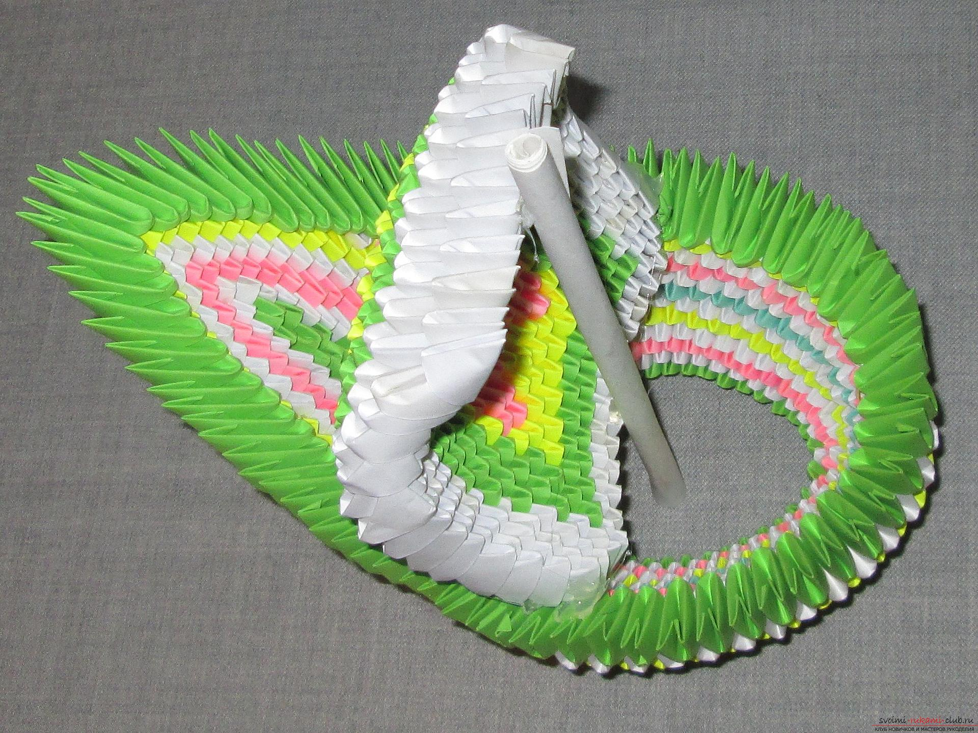This master class will teach how to make your own hands from a modular origami boat .. Photo №18