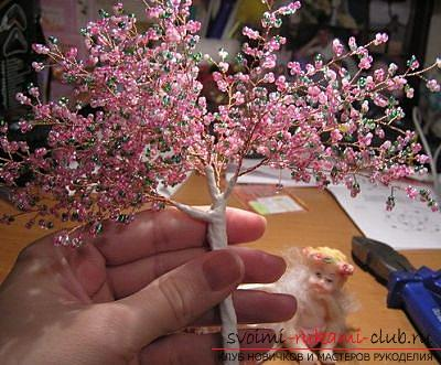 How to weave sakura from beads, detailed master classes with step-by-step photo and description .. Photo №41