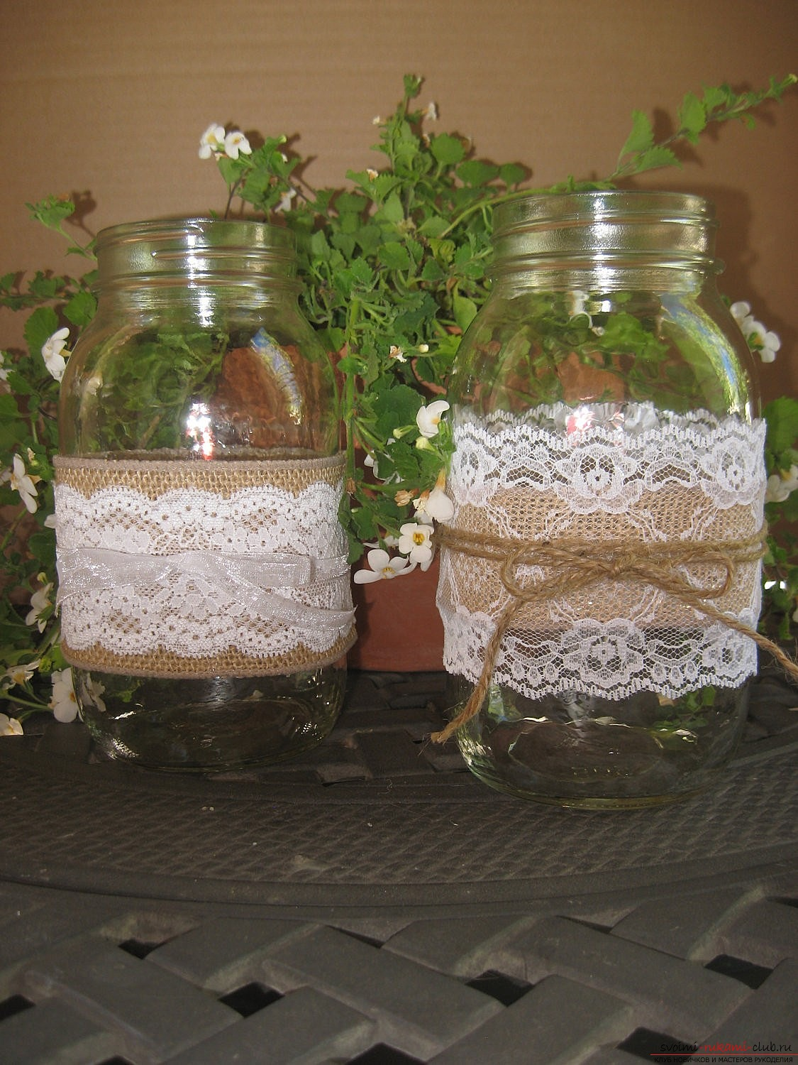 Crafts made of glass jars made by own hands for design. Photos and Tips .. Photo # 2