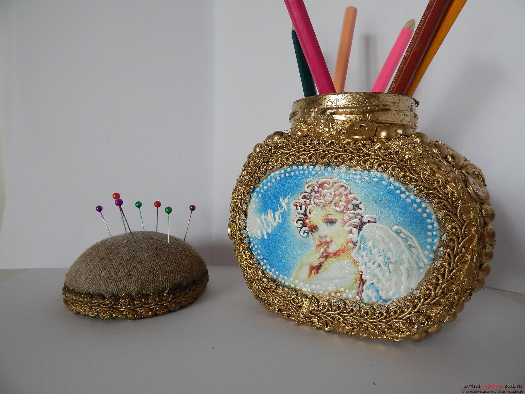 Pencils made of empty coffee cans. Picture №3