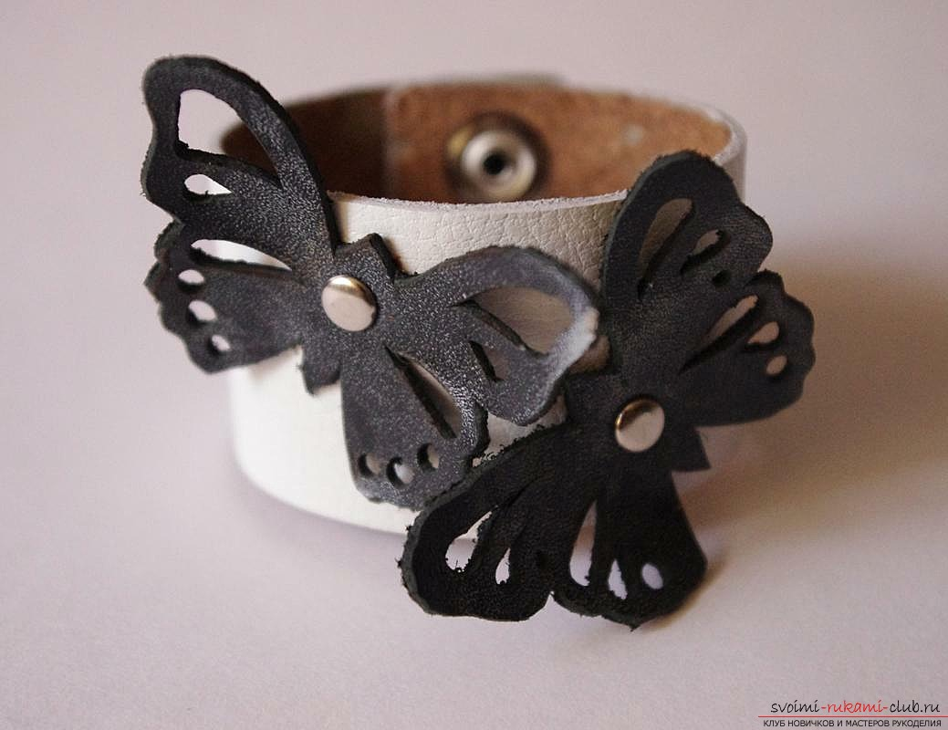 Leather bracelet for your beloved .. Picture №3