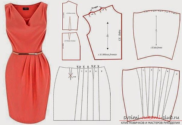 Patterns of a dress, for his tailoring yourself. Photos of dress patterns and their application .. Photo # 2