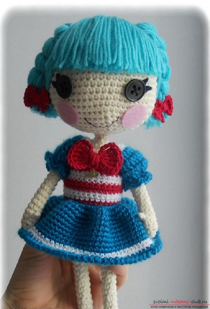 How to tie a beautiful doll with your own hands crochet, detailed description, schemes and photos of finished products .. Photo # 2