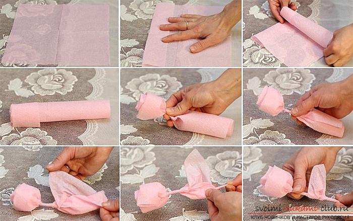 How to make your own hands beautiful and original crafts using kiwing techniques and others, step-by-step photos and instructions for creating paper crafts. Photo # 24