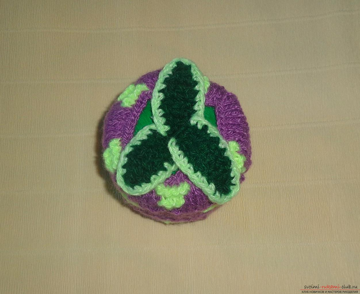 This master class of crochet crochet contains a rose scheme and a description of knitting .. Photo # 32