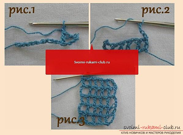 Openwork pattern for a scarf crocheted - a diagram and a description of an openwork pattern with their own hands. Photo №1