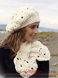 Fashionable beret, crocheted, for beginners. Photo №6