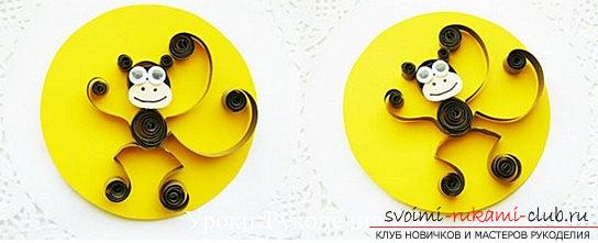 Quilling New Year monkey - crafts on the eastern horoscope and a master class. Photo №6