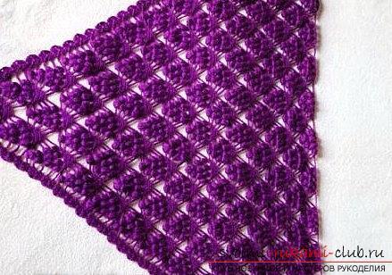 Druivenpatroon voor gehaakte sjaal - patronen voor gehaakte sjaals en patronen. Foto nummer 9