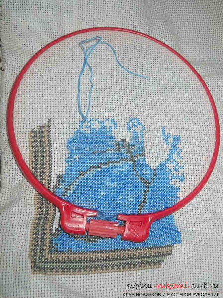 We sew cross-stitch icons of the Savior and Saint Blessed Matron for beginners. Photo №7