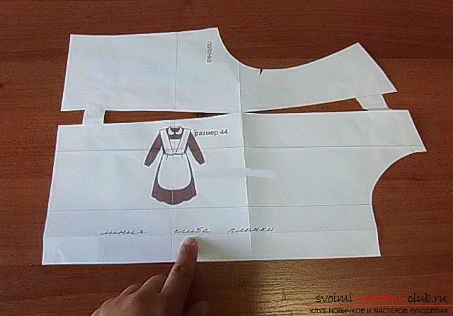 photo-scheme for sewing school dress. Photo # 2
