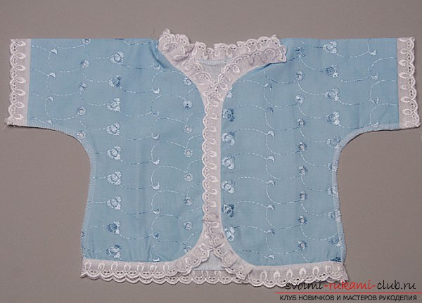sewing beautiful and quality clothes for the newborn with their own hands. Photo №4