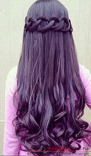 Interesting and trendy hairstyles for long hair for 2016 with their own hands. Photo Number 21