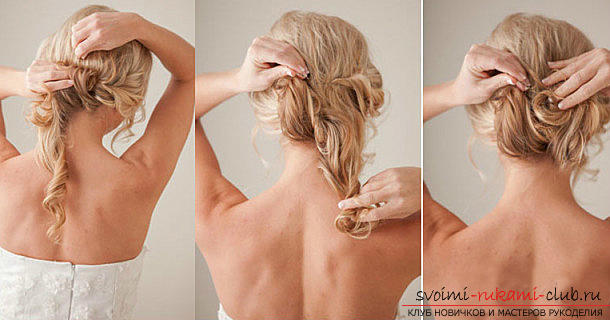 Fast hairstyles for the holiday with their own hands, step by step photos and detailed instructions .. Photo # 4