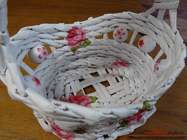 How to weave an original basket of newspaper tubes with our own hands: a master class with a photo. Photo number 16